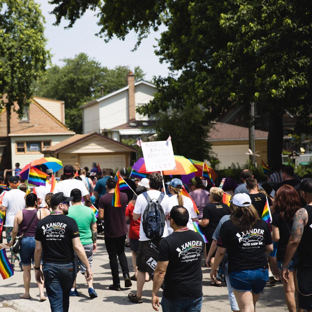 Berwyn Pride Parade Xander Shop